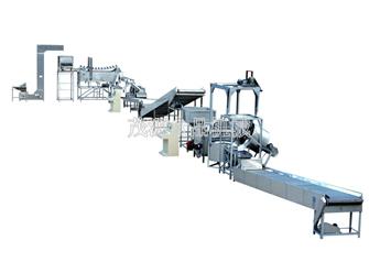 花生米自动油炸生产线