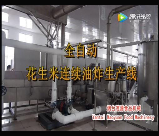 全自动花生米油炸生产线(日照现场)